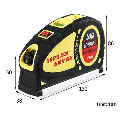 Laser Level Marker 18 FT W/550cm Measuring Tape LV05