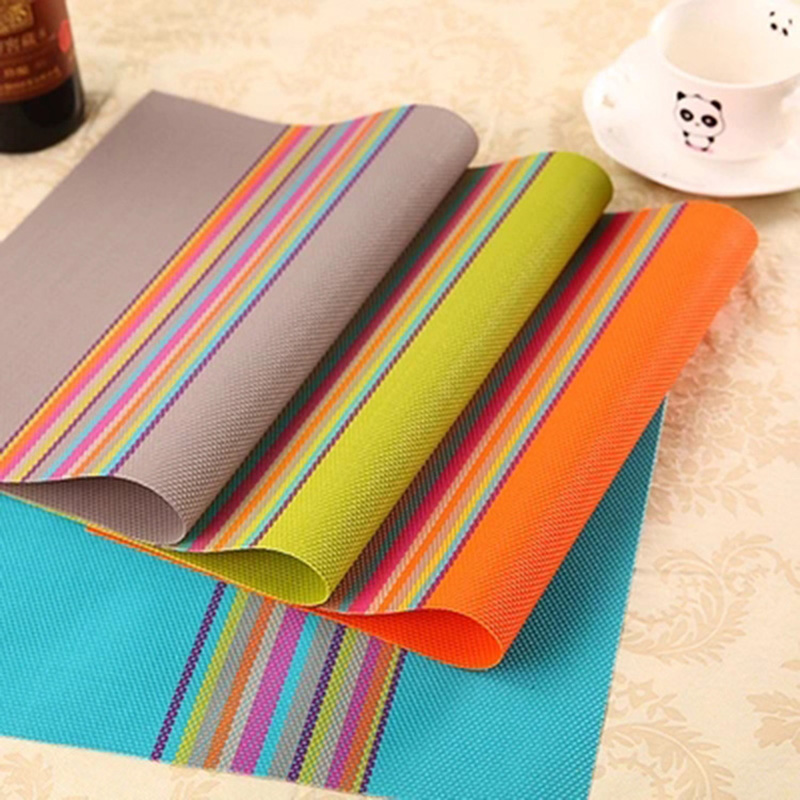 4pcs per lot PVC Placemats for Dining Table Heat-resistant