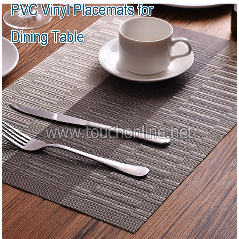 3pcs PVC Vinyl Placemats for Dining Table TPM-04