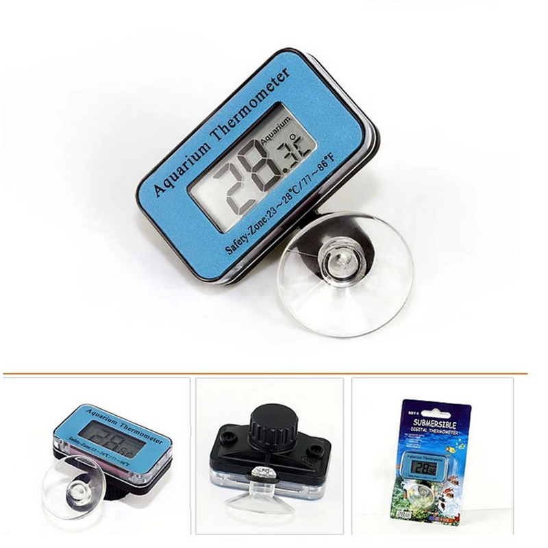 Aquarium LCD Digital Thermometer Submersible Fish Tank ST-1