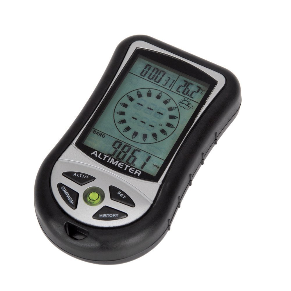 Digital LCD 8 In 1 Sports Altimeter for Hiking Hunting TAT-302