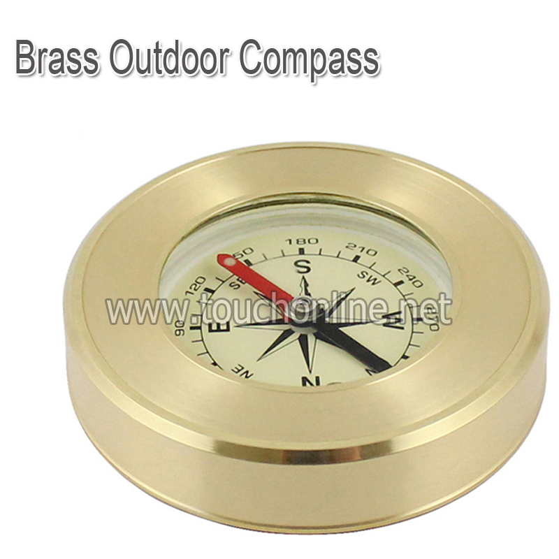 Brass Outdoor Compass Metal Crafts Tourist Gifts TJ57