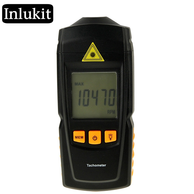 LCD Non-Contact Digital Tachometer 2.5 to 99,999 RPM