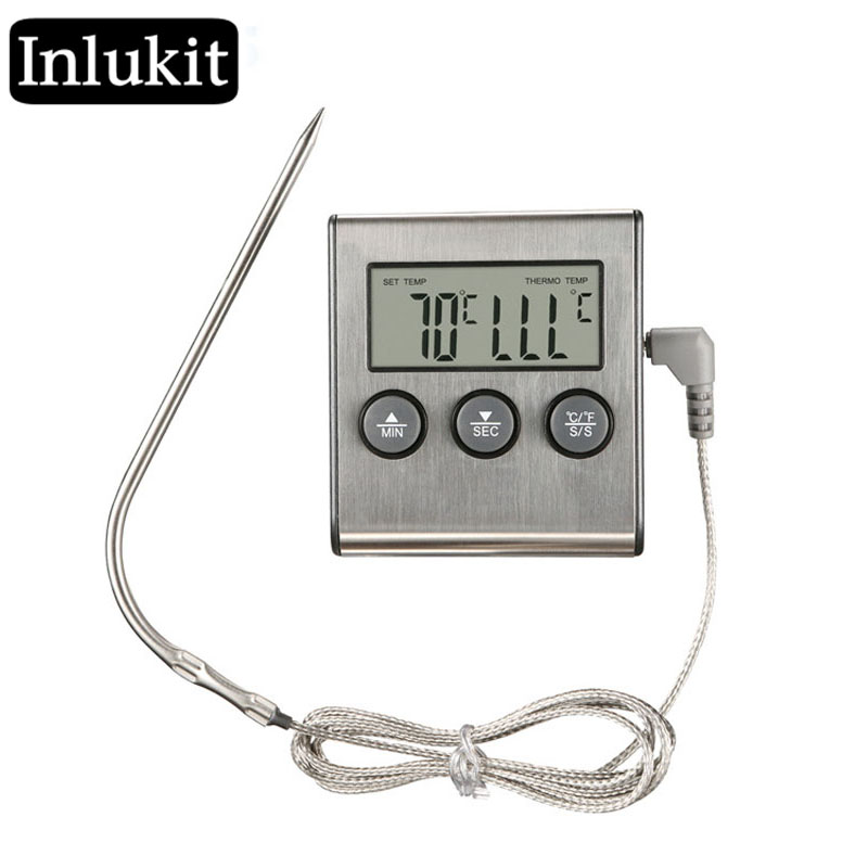 Digital Food Kitchen Oven Thermometer Probe For BBQ Thermometer