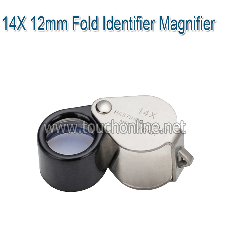 14X 12mm Fold Identifier Magnifier Jewelry Magnifying glass Loup