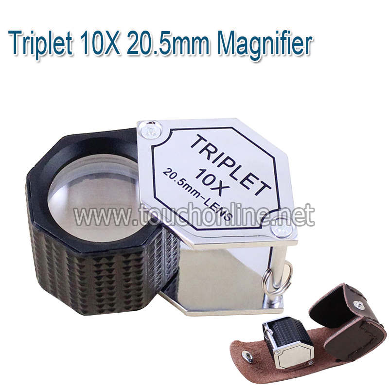 Triplet 10X 20.5mm Magnifier Jewelry Magnifying glass Loupe