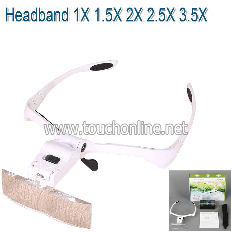 Headband 1X 1.5X 2X 2.5X 3.5X Replaceable Lenses Magnifying
