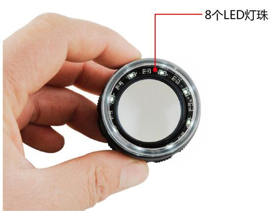 professional optical glass 8LED Scale Magnifier Loupe TT10X50